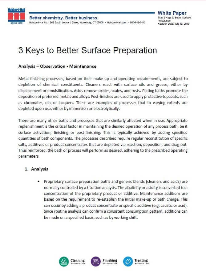 3 Keys to Better Surface Preparation