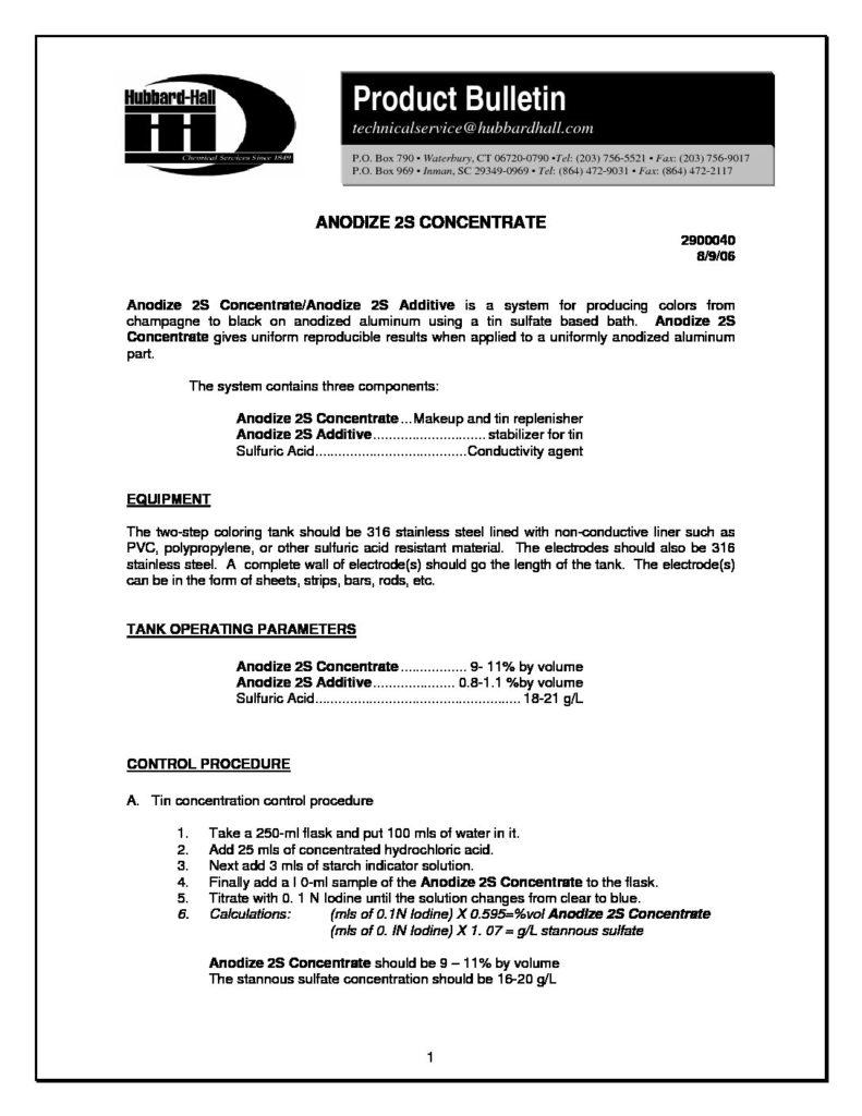 anodize 2s concentrate pb 2900040 pdf 791x1024