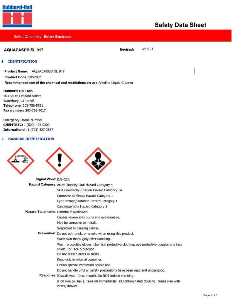 aquaease sl 917 sds 2052005 pdf 791x1024