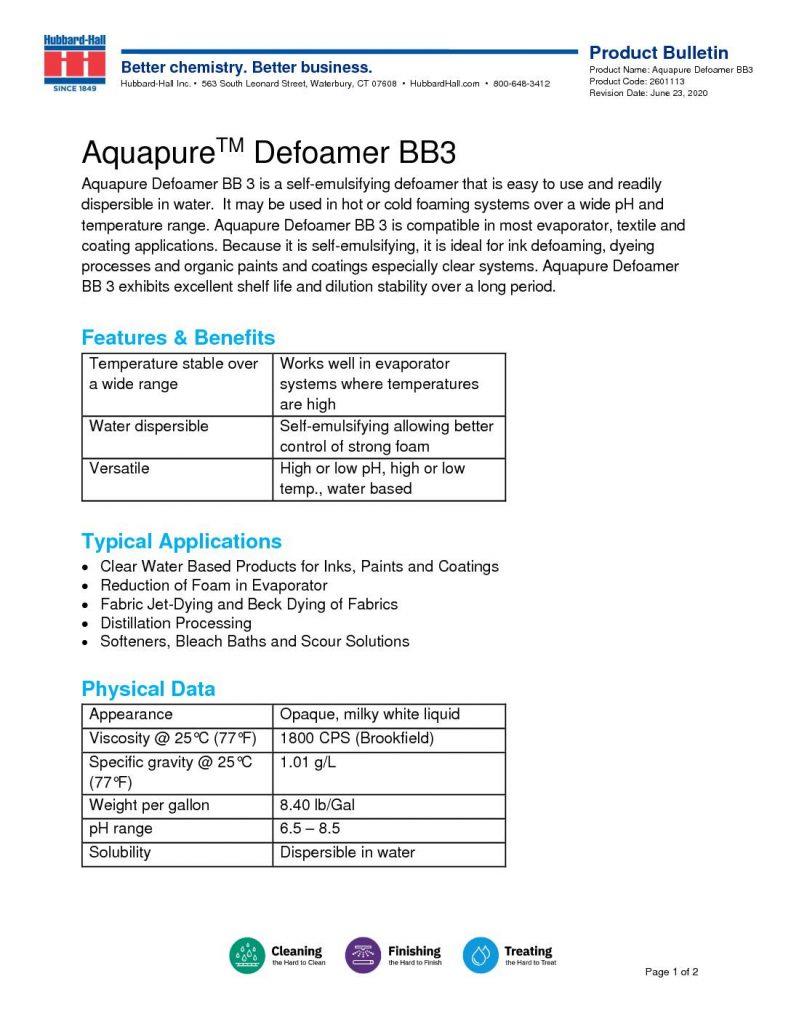 aquapure defoamer bb3 pb 2601113 pdf 791x1024