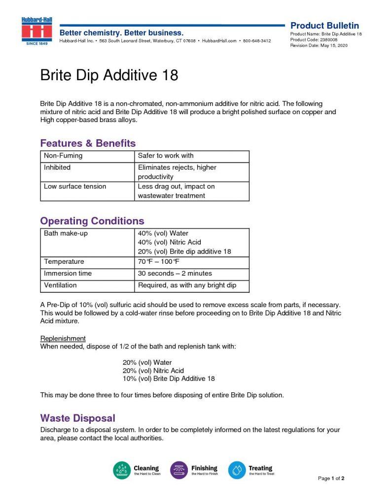 brite dip additive 18 pb 2380008 pdf 791x1024