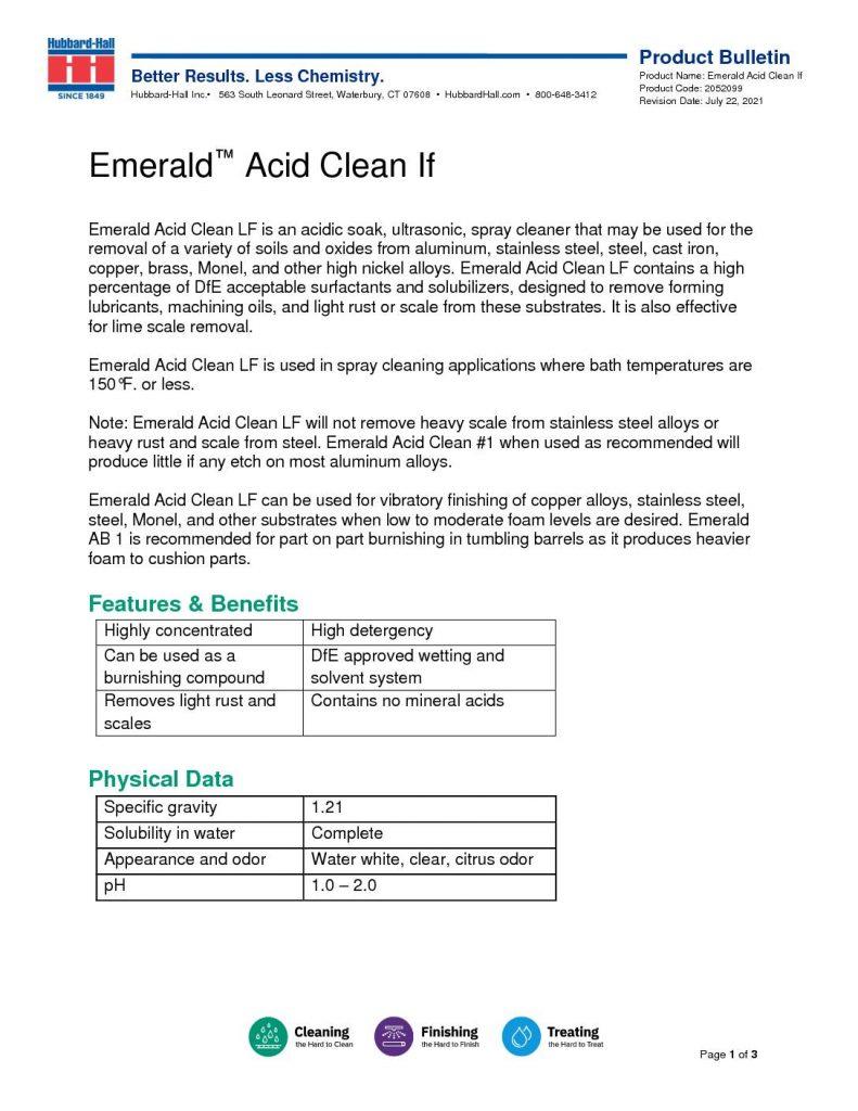 emeral acid clean if pb 2052099 pdf 791x1024