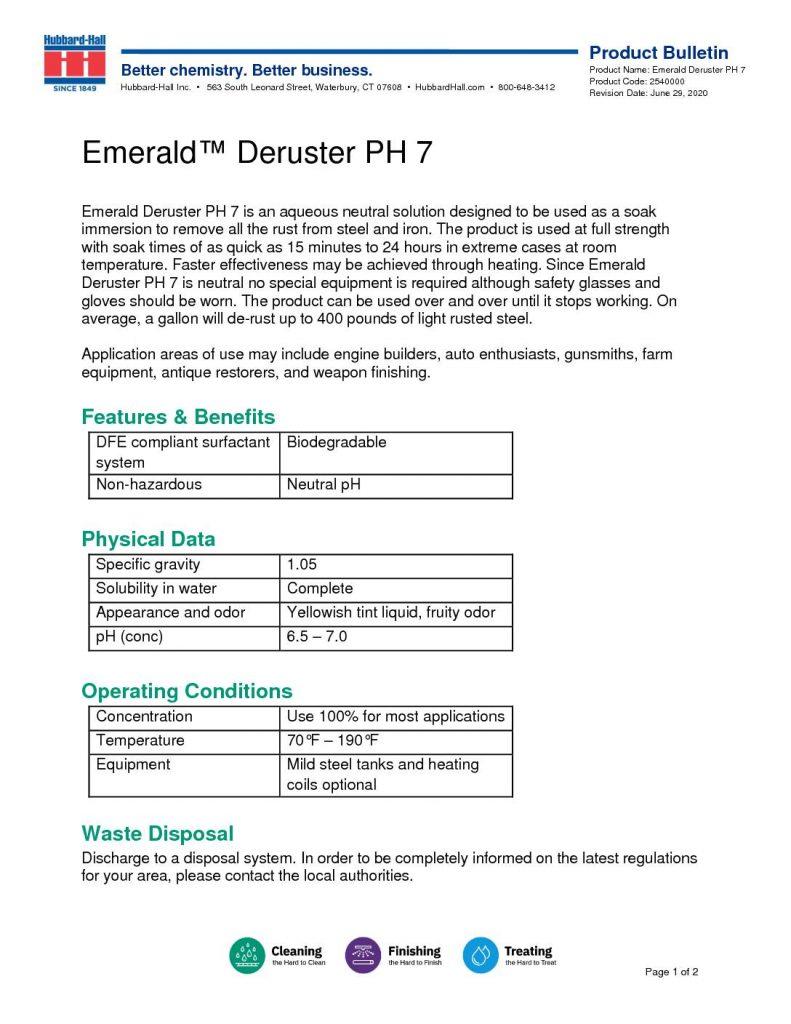 emerald deruster ph 7 pb 2540000 pdf 791x1024