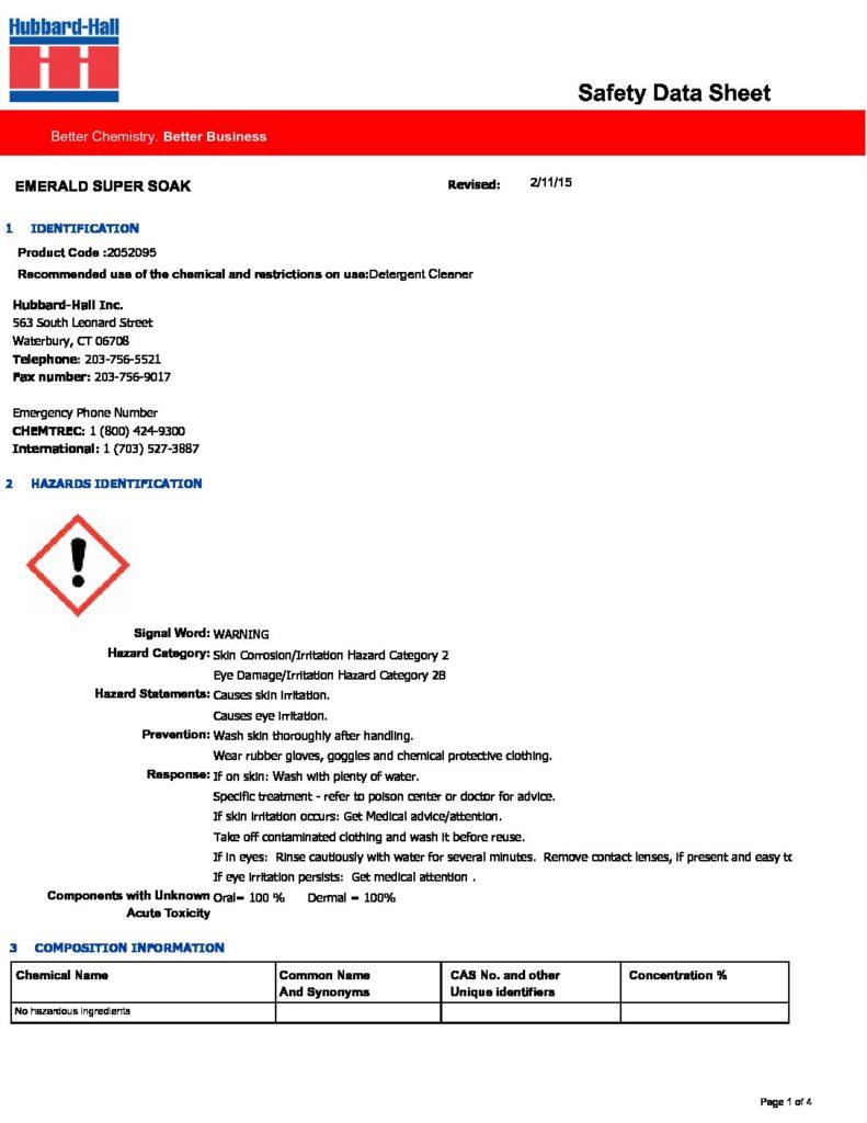 emerald super soak sds 2052095 pdf 791x1024