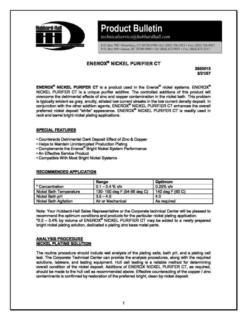 enerox nickel purifier ct pb 2850010 pdf 791x1024