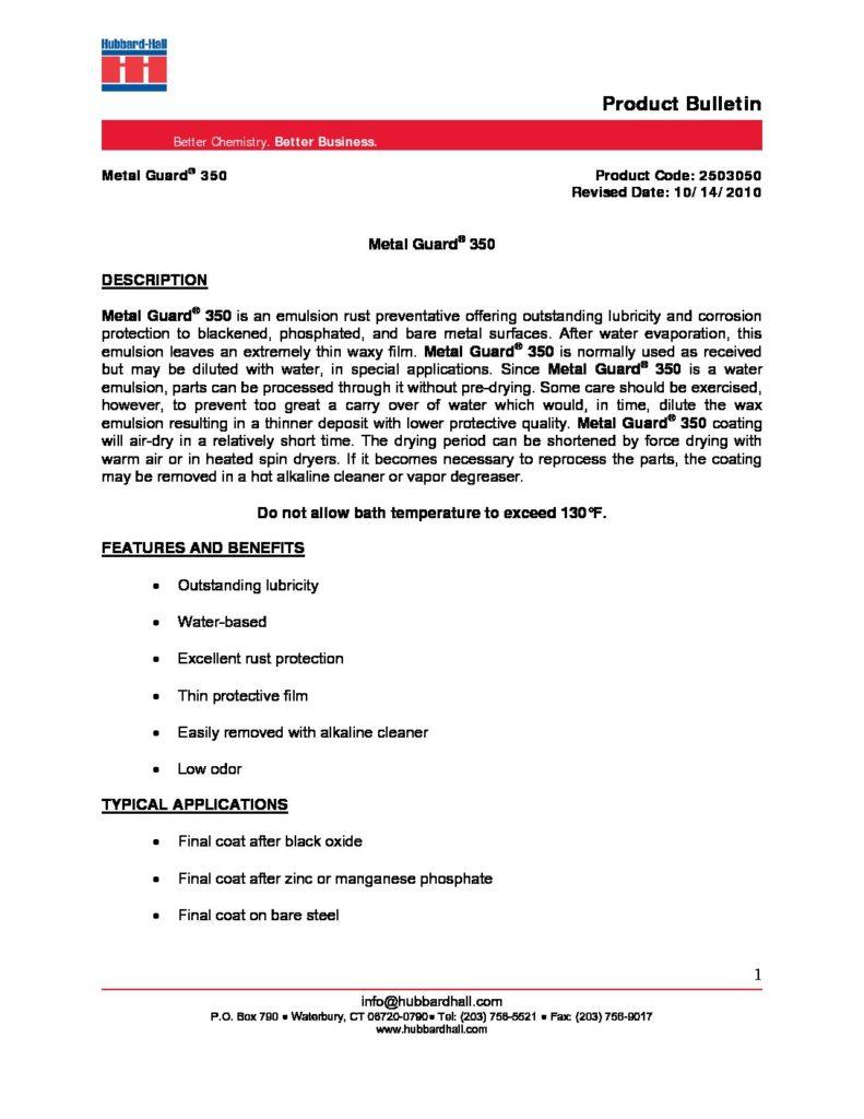 metal guard 350 pb 2503050 pdf 791x1024