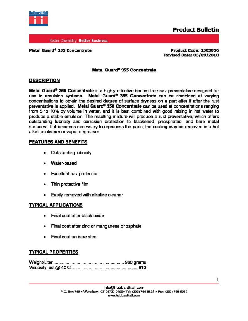metal guard 355 concentrate pb 2503056 pdf 791x1024
