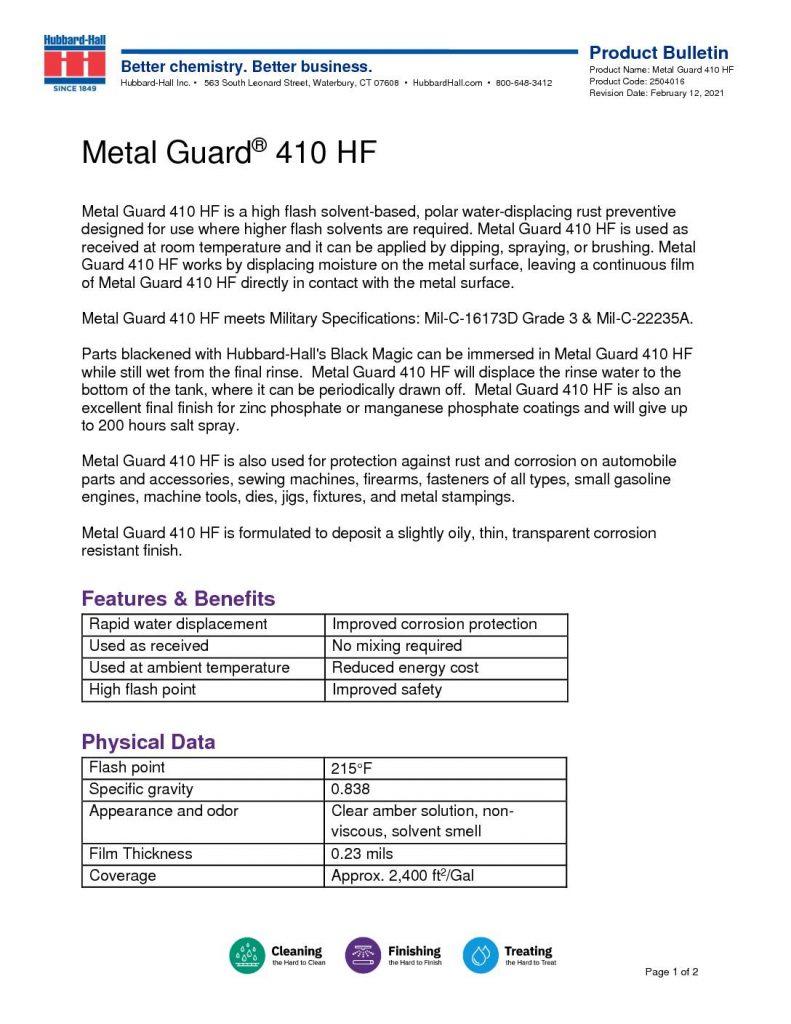 metal guard 410 hf pb 2504016 pdf 791x1024