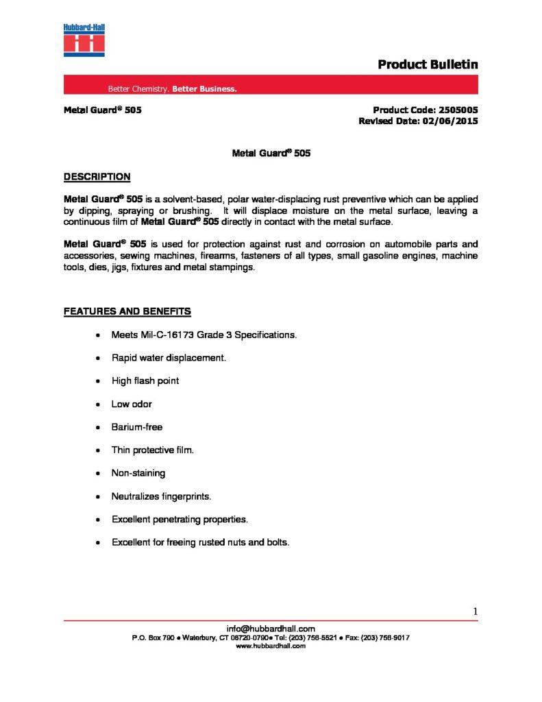 metal guard 505 pb 2505005 pdf 791x1024