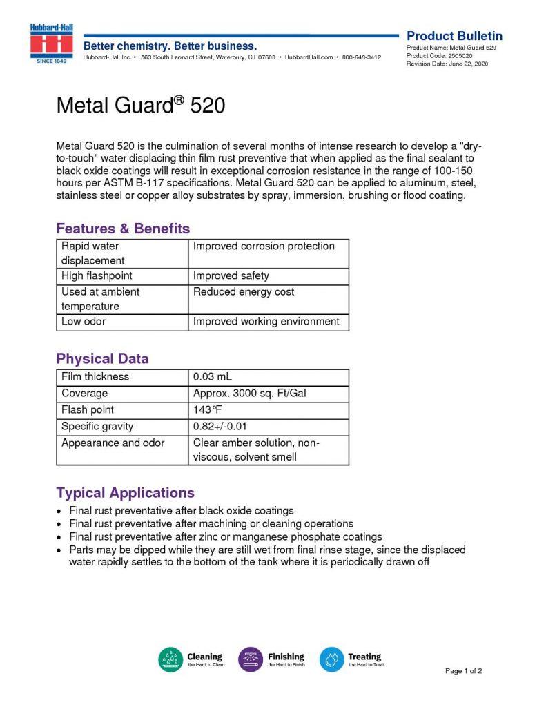 metal guard 520 pb 2505020 pdf 791x1024