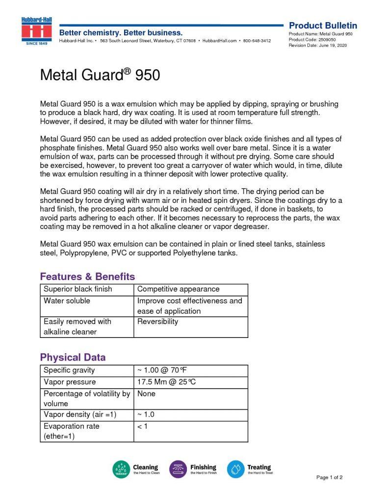 metal guard 950 pb 2509050 pdf 791x1024