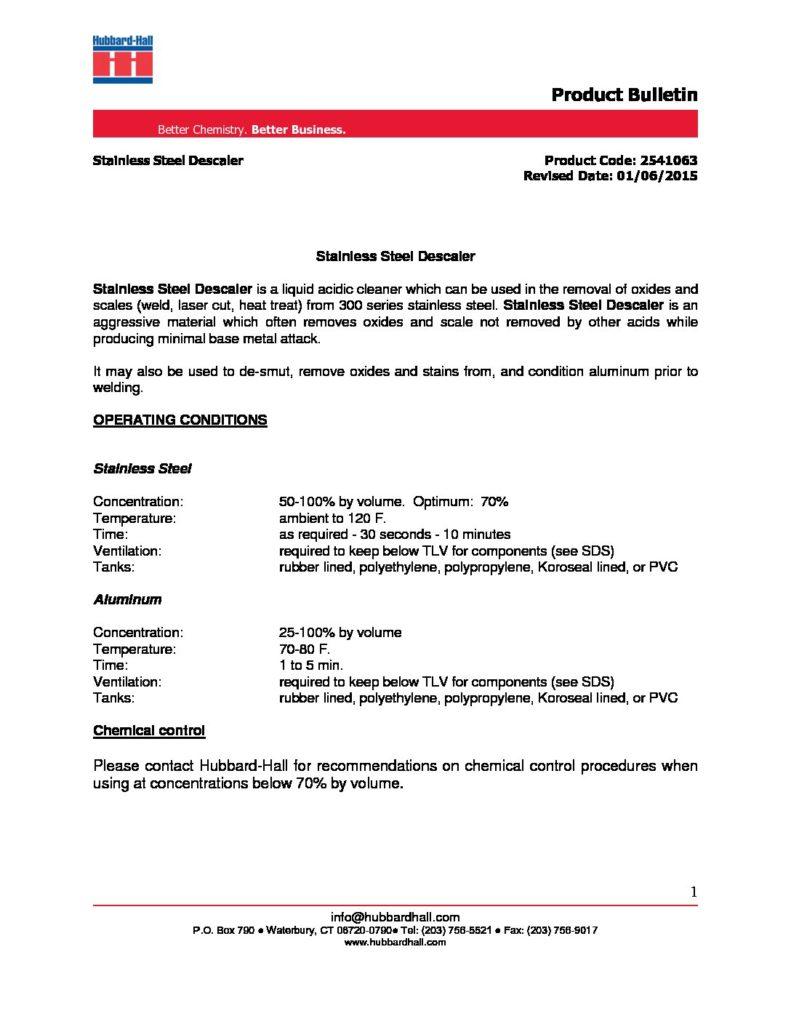 stainless steel descaler pb 2541063 pdf 791x1024