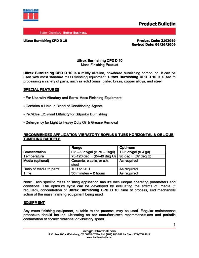 ultrex burnishing cpd d 10 pb 2103069 pdf 791x1024