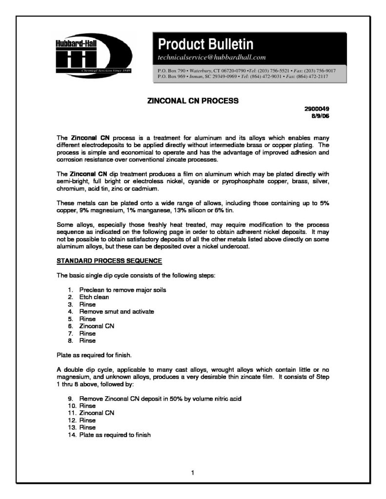 zinconal cn process pb 2900049 pdf 791x1024