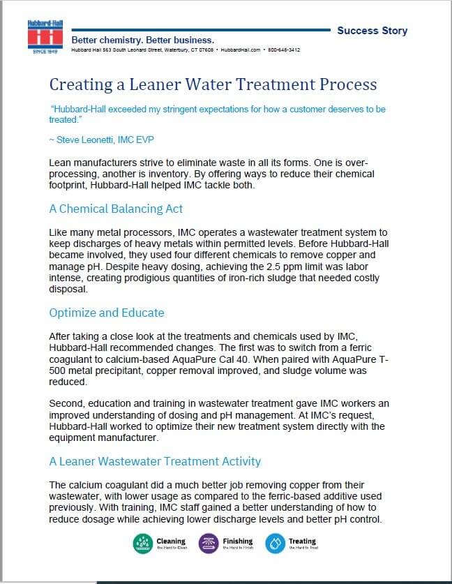 Creating a Leaner Water Treatment Process