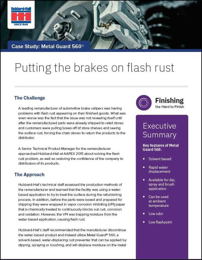 Putting The Brakes on Flash Rust