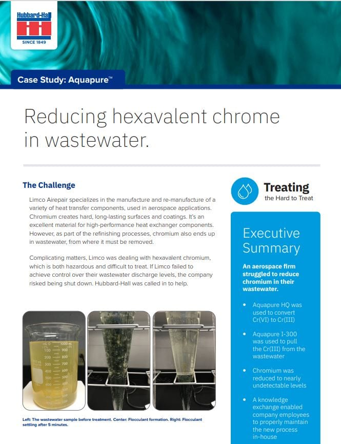 Reducing Hexavalent Chrome in Wastewater