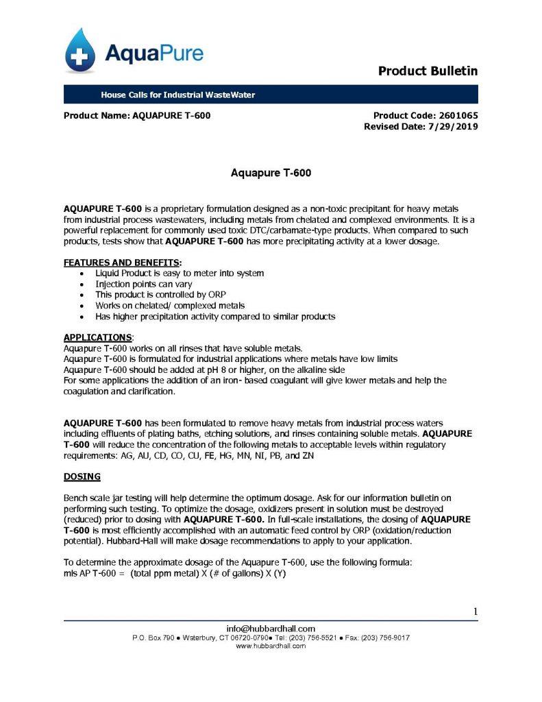 Aquapure T 600 pb 2601065 pdf 791x1024