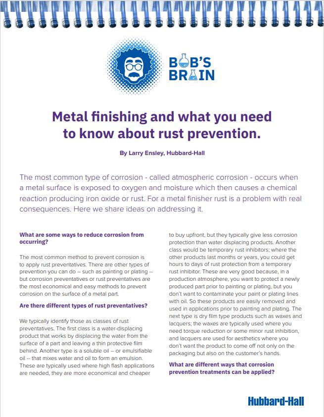 Bob's Brain:  Rust Prevention