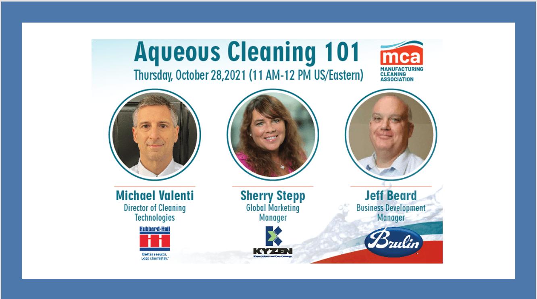 Webinar:  Aqueous Cleaning 101